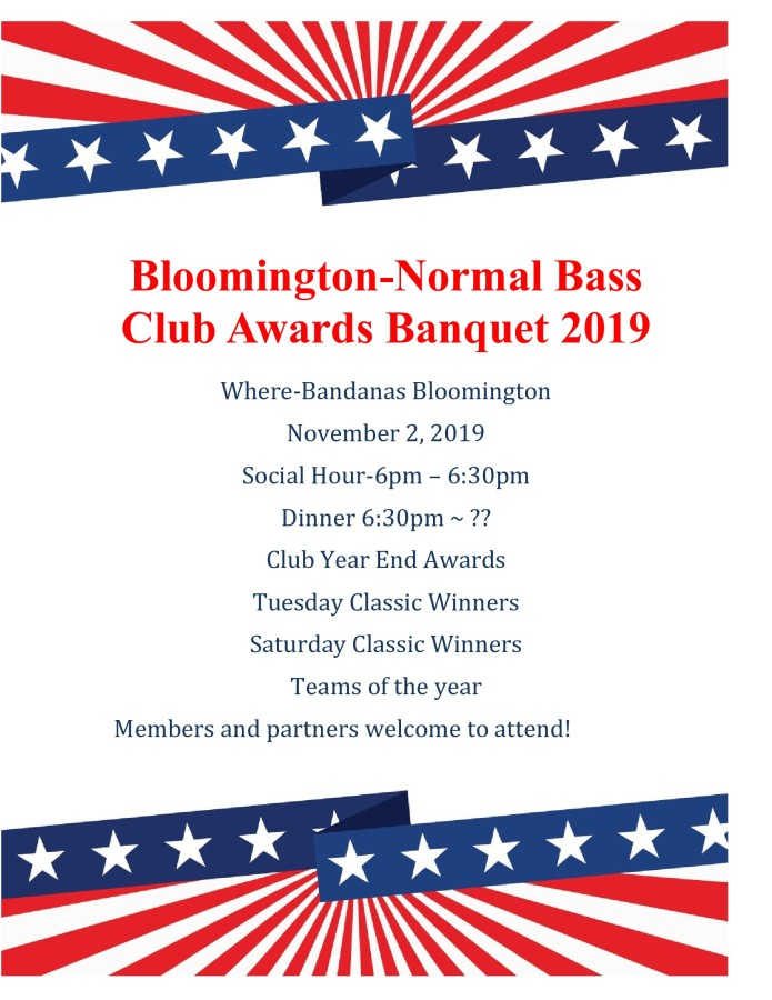 Bloomington-Normal Awards Banquet flyer 2019